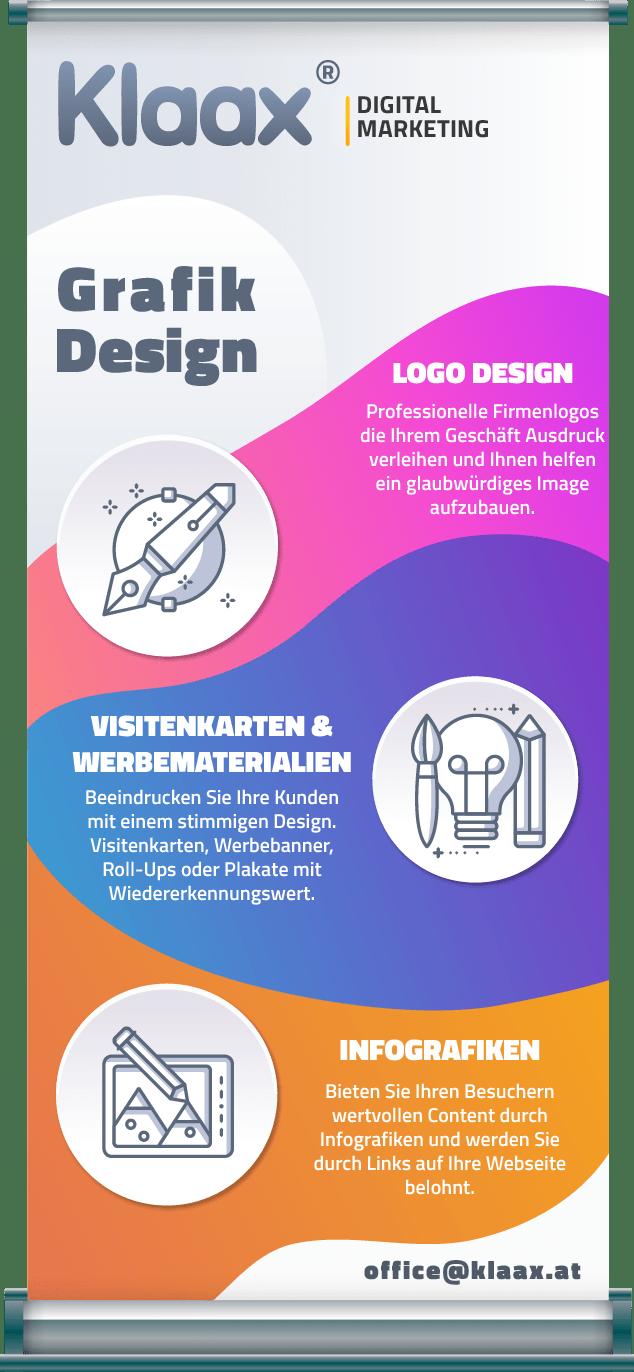 Roll up Gestaltung von Ihrem Grafiker Wien