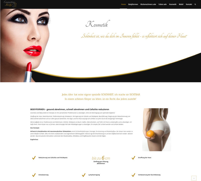 Webseite Projekt - Cosmetics and Body