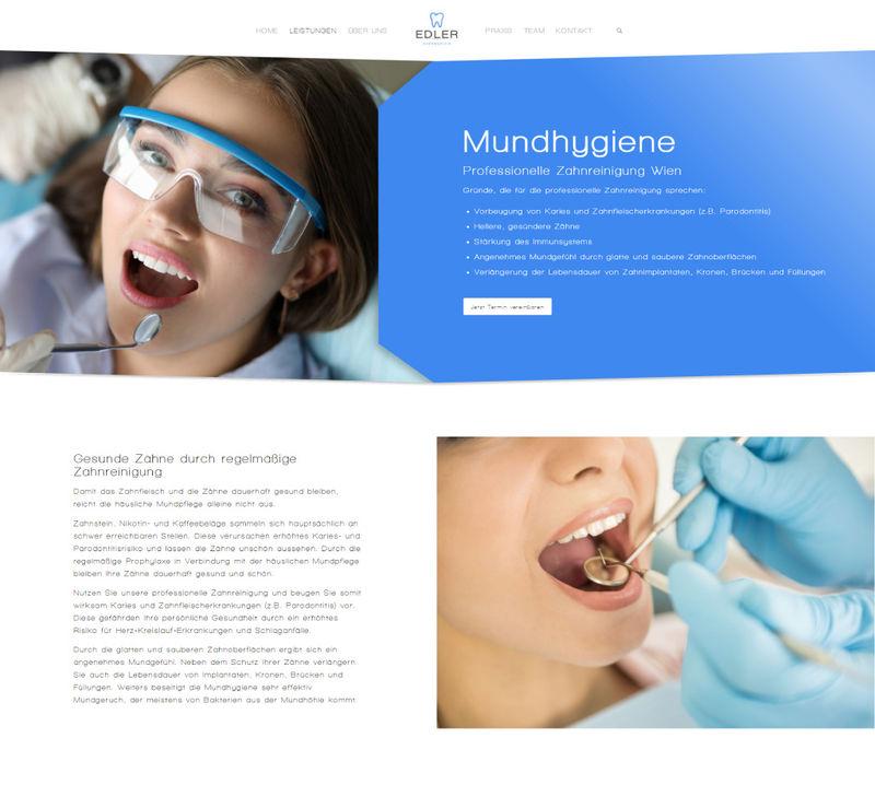Webseite Projekt - Edler Zahn
