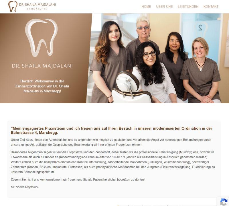 Webseite Projekt - Zahnarzt Marchegg